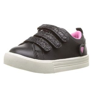 OshKosh B'Gosh Girls' Luana Sneaker, Black, 11 M U